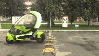 electric car  e-Trike. Future  is searching investors