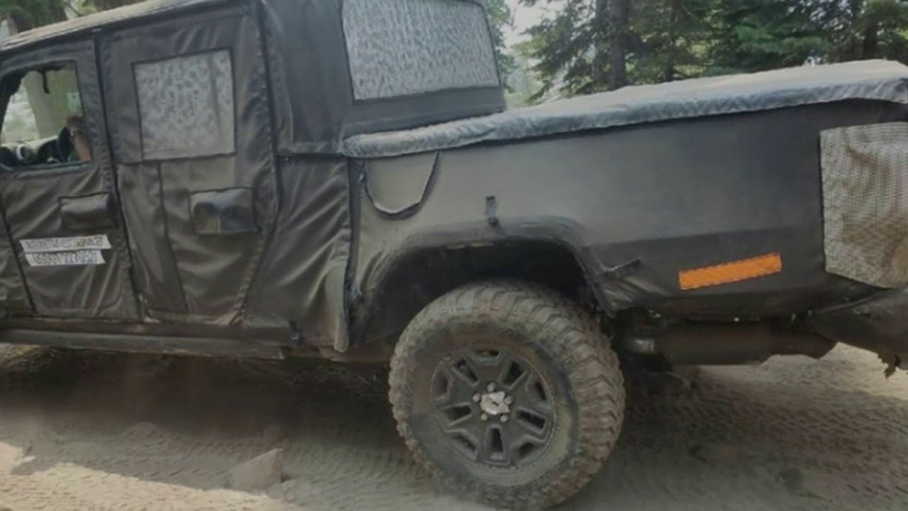 Jeep Wrangler Scrambler Pickup Spied In Some Scrapes On The Rubicon Trail