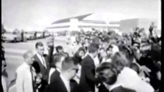 November 22, 1963 - President John F. Kennedy and Jacqueline Kennedy leaving Hotel Texas, Fort Worth