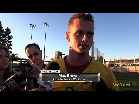 WeAreSC Video: Max Browne talks following Day 1 of spring ball