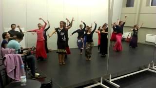 Уроки фламенко. Tientos. Хореография Куки Сантьяго