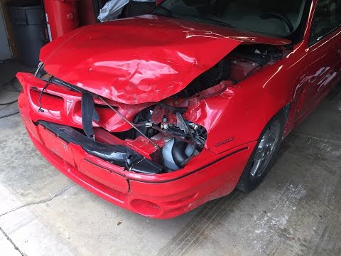 2000 Pontiac Grand Am GT1 light hit front end repair time lapse video