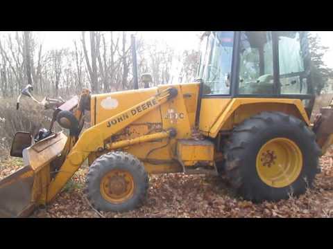 1986 John Deere 310C Backhoe - YouTube