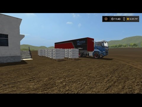 Farming simulator 17  making sugar pallets for warehouse