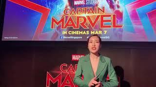 Đỗ Mỹ Linh gặp gỡ dàn sao phim bom tấn Captain Marvel tại Singapore