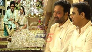Minister KTR And MLA Kishan Reddy @ Boinapally Srinivas Rao's Daughter Sangeeth Ceremony | TV5 News