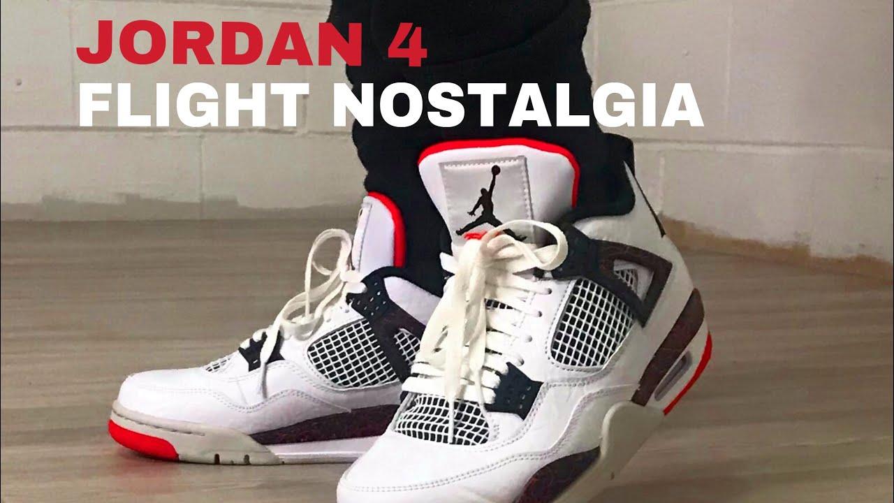 e3d223e7c79822 AIR JORDAN 4 FLIGHT NOSTALGIA DETAILED REVIEW + ON FOOT - YouTube