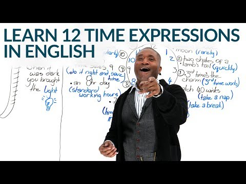 12 Expressions of TIME in English