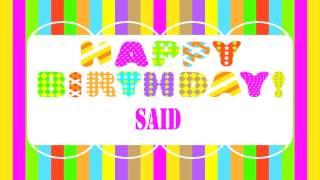 Said Wishes & Mensajes - Happy Birthday