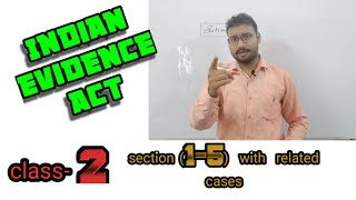 Indian evidence act, class-2 , section (1-5) Adv. Praveen Jawalia, the mind maintainer