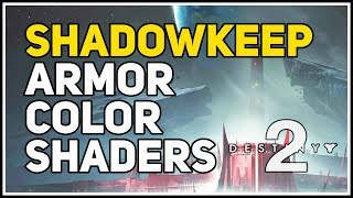 How to change Armor Color Shaders Destiny 2 Shadowkeep