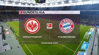 Eintracht Frankfurt vs Bayern Munich   Commerzbank-Arena   2019-20 Bundesliga   PES 2020