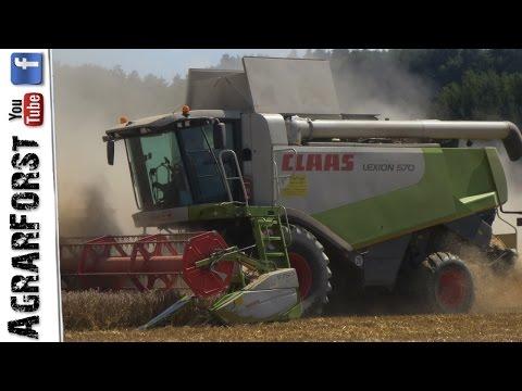Claas Lexion 570 Im Weizen - Getreideernte 2016!