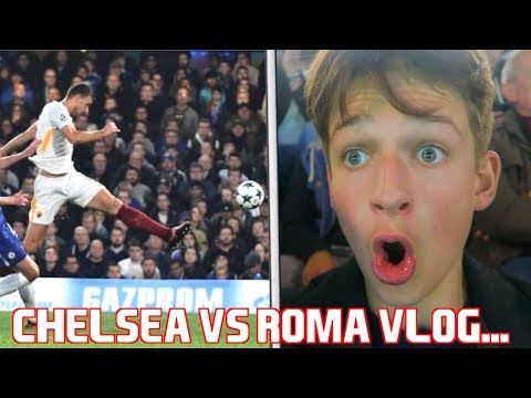 CHELSEA 3-3 ROMA VLOG!!! GOALS and HIGHLIGHTS! EDIN DZEKO INSANE GOAL.