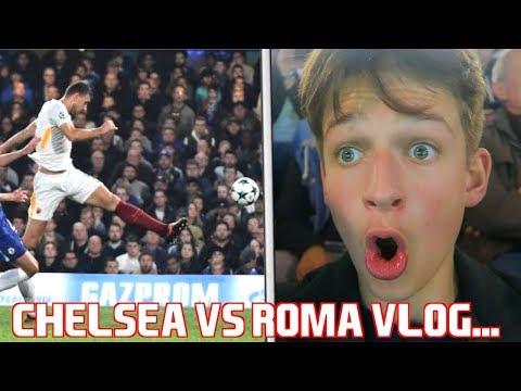 CHELSEA 3-3 ROMA VLOG!!! GOALS and HIGHLIGHTS! EDIN DZEKO INSANE GOAL.