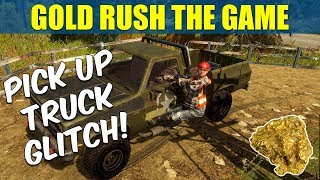 Gold Rush The Game Hanging Out Of The Pick Up Truck