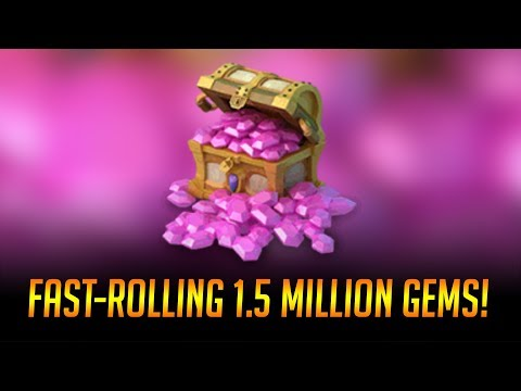 Fast Rolling 1,500,000 GEMS $7500 Talents DEMOGORGON Castle Clash