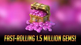 Fast Rolling 1,500,000 GEMS $7500 Talents DEMOGORGON Castle Clash