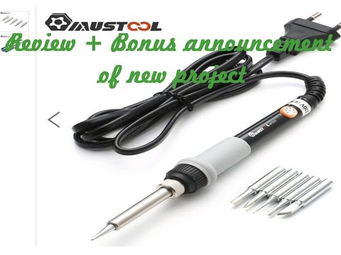 review mustool mt223 60w adjustable temperature electric soldering iron youtube. Black Bedroom Furniture Sets. Home Design Ideas