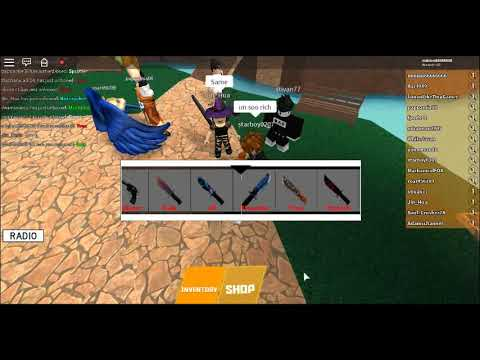 Spending 100,000 THOUSAND COINS ON KNIVES (Free) Ft.Jin_Hua Plays Roblox (Part One)
