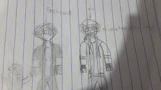 Me and Frosty draw in roblox (i am draw)