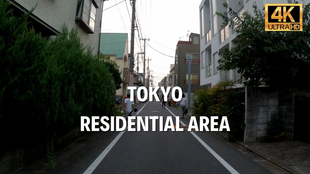 Modern Japanese houses. Residential area in Tokyo | Walk Japan 2021[4K]