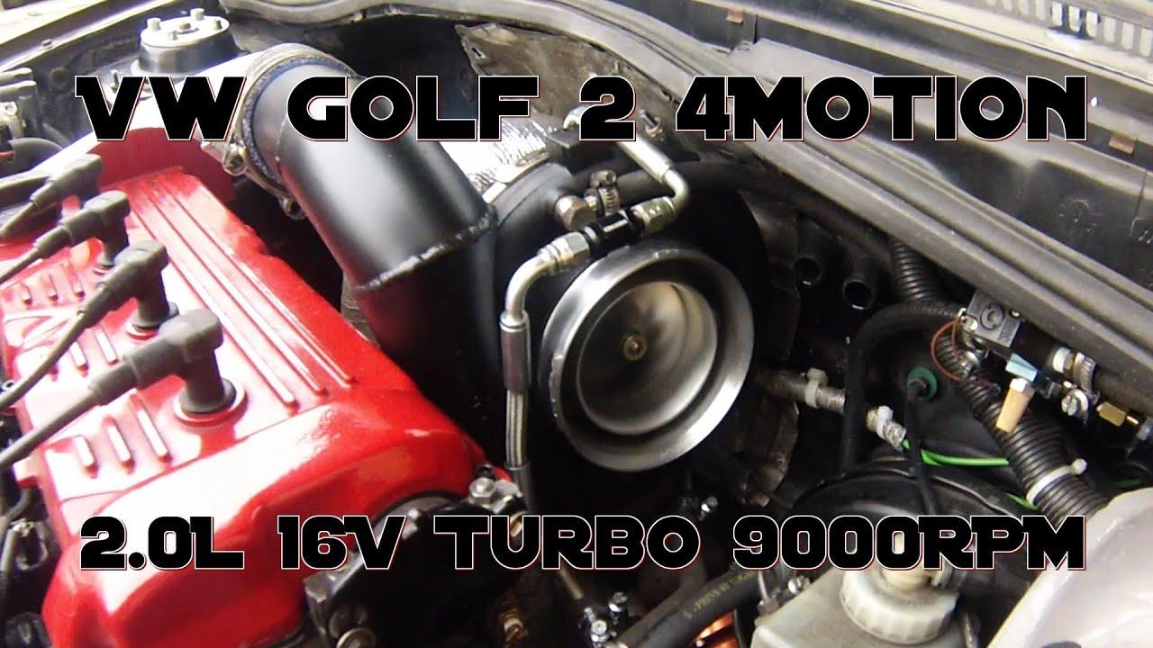 VW Golf Mk2 AWD 16V Turbo 1150HP test on street Boba ...