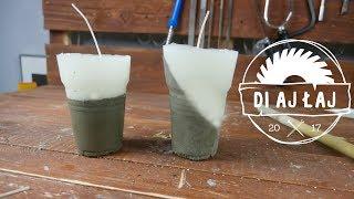 Wie man Beton-Kerzen? DEE-AY, ES ist #8 / How to make Zement base Kerzen?