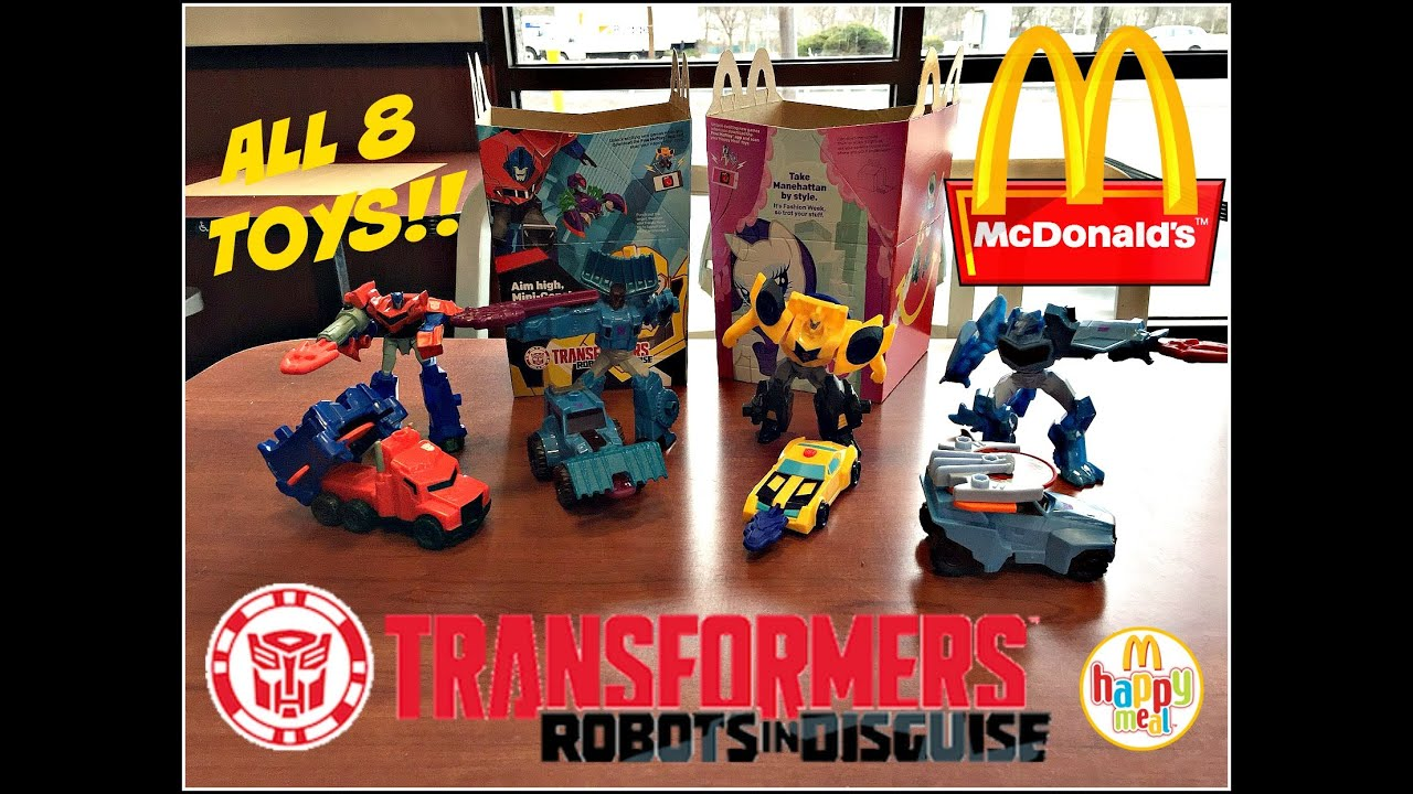 Mcdonald S Transformers Happy Meal Toys Feb 2016 All 8