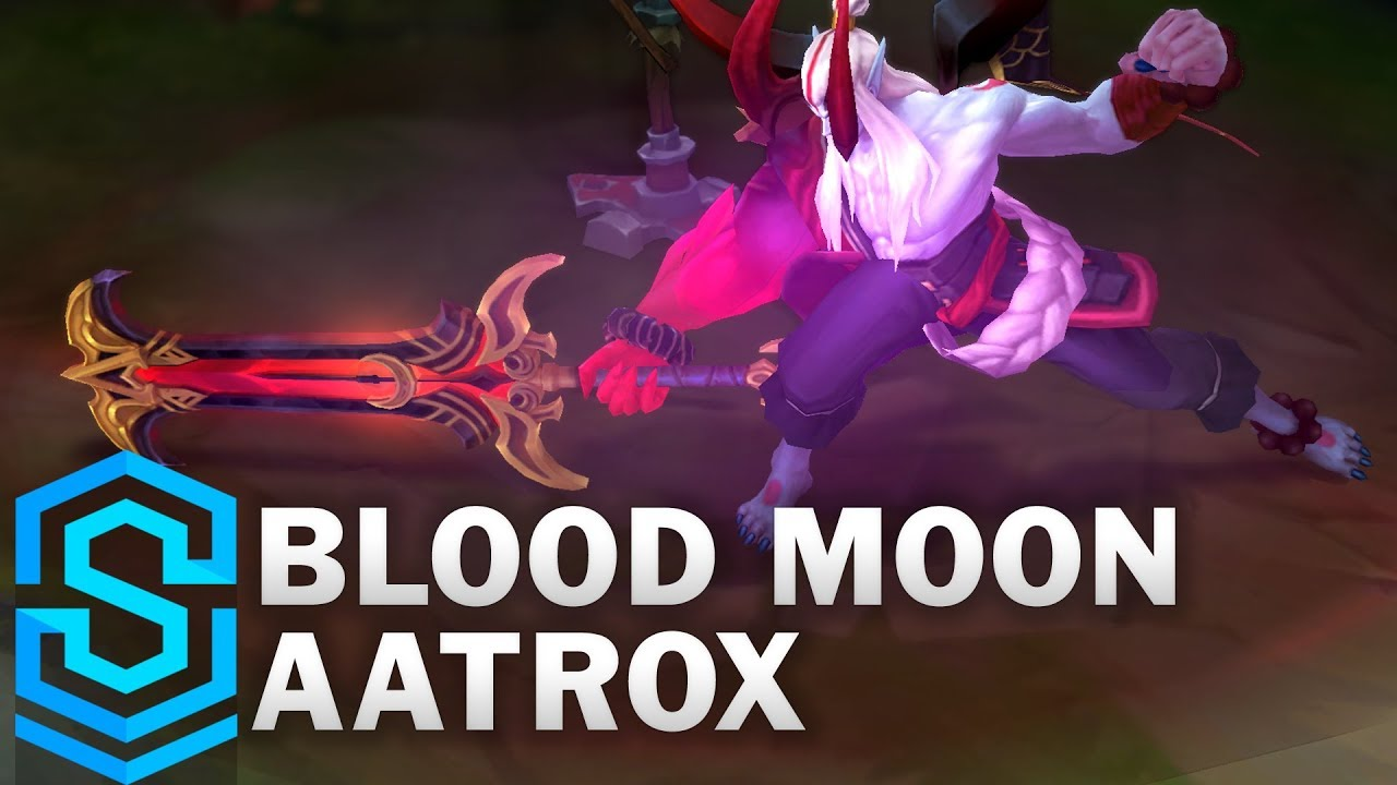 Blood Moon Aatrox Skin Spotlight Pre Release League Of Legends