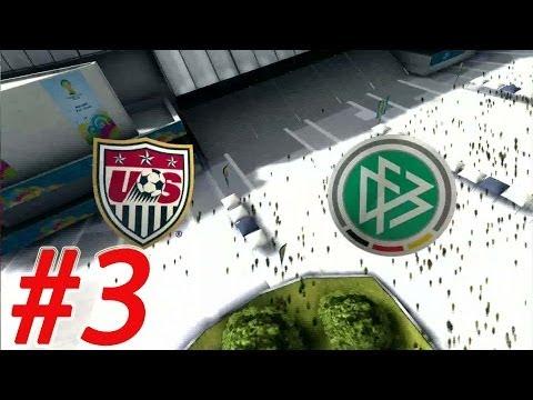 2014 FIFA World Cup - Walkthrough Gameplay Part 3 - Group G -  USA - Germany  [ HD ]