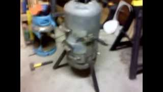 Gas Bottle Wood Burning Stove Part 3.wmv