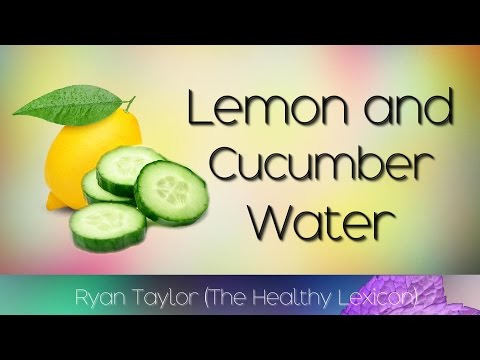 Cucumber and Lemon Water (Detox)