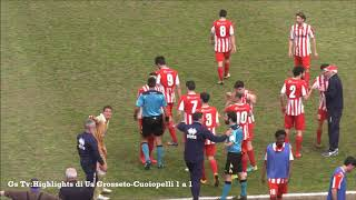 Eccellenza Girone A Grosseto-Cuoiopelli 1-1 GS TV
