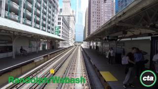 CTA Ride the Rails: Green Line from Garfield to Harlem in Real Time
