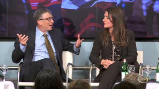 Bill, Melinda Gates adv๐cate GMOs to a Brussels audience