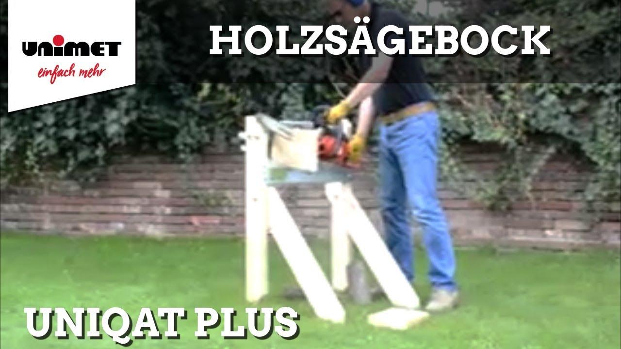 holzsägebock uniqat plus vorführung - youtube
