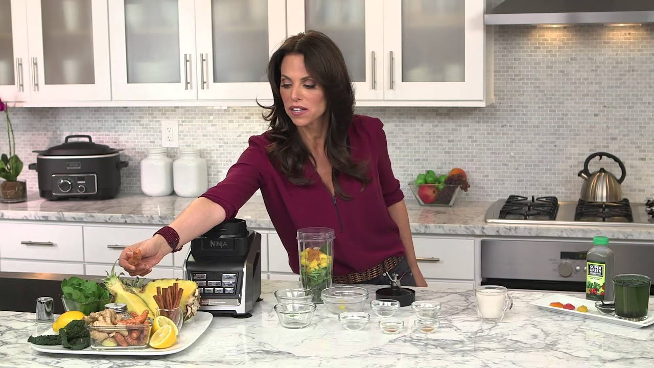 Rachel Beller and Ninja® Kitchen - Pure Green Super Juice Recipe using  Nutri Ninja® with Auto-iQ™