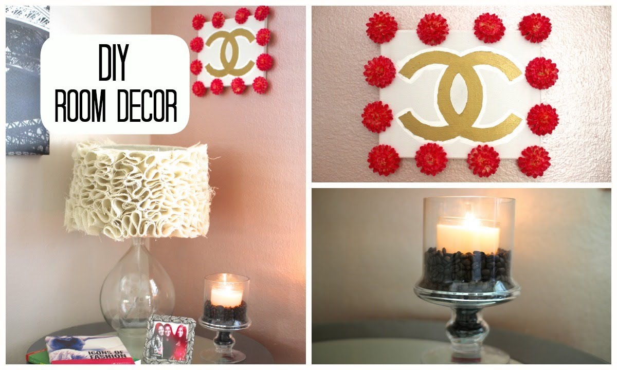 Diy room decor cute simple youtube for Room decoration simple ideas