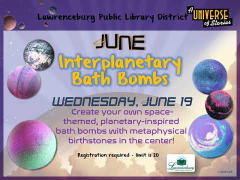Lawrenceburg Public Library's 2019 Summer Reading Program ~ A Universe of Stories!