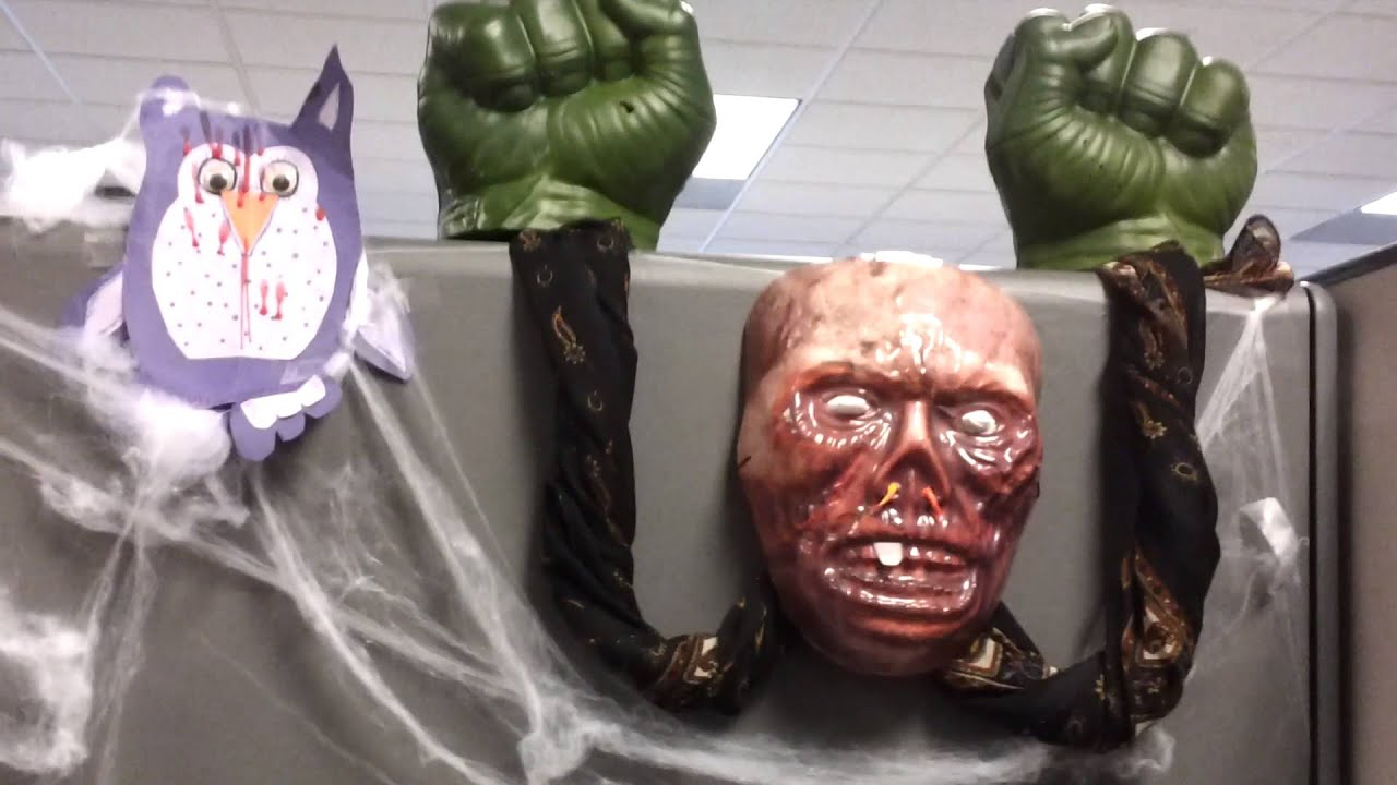 Office halloween decorations ideas - Halloween 2012 We Bagged The First Place In Office Cubicle Decoration Youtube