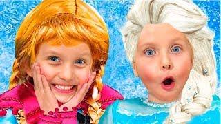 Алиса играет с подружками Принцессами / Сказки для Евы
