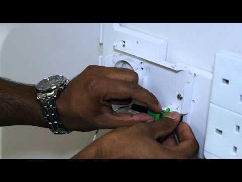 Etisalat LightSpeed ONT Cabinet Installation Video
