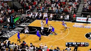 NBA 2K13 Gameplay:  Brooklyn Nets vs New York Knicks