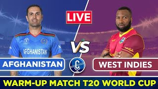 🔴ICCT20 WC Live: Afghanistan vs West Indies, 16th Match-Live Score | AFG vs WI Live Warm-up Match