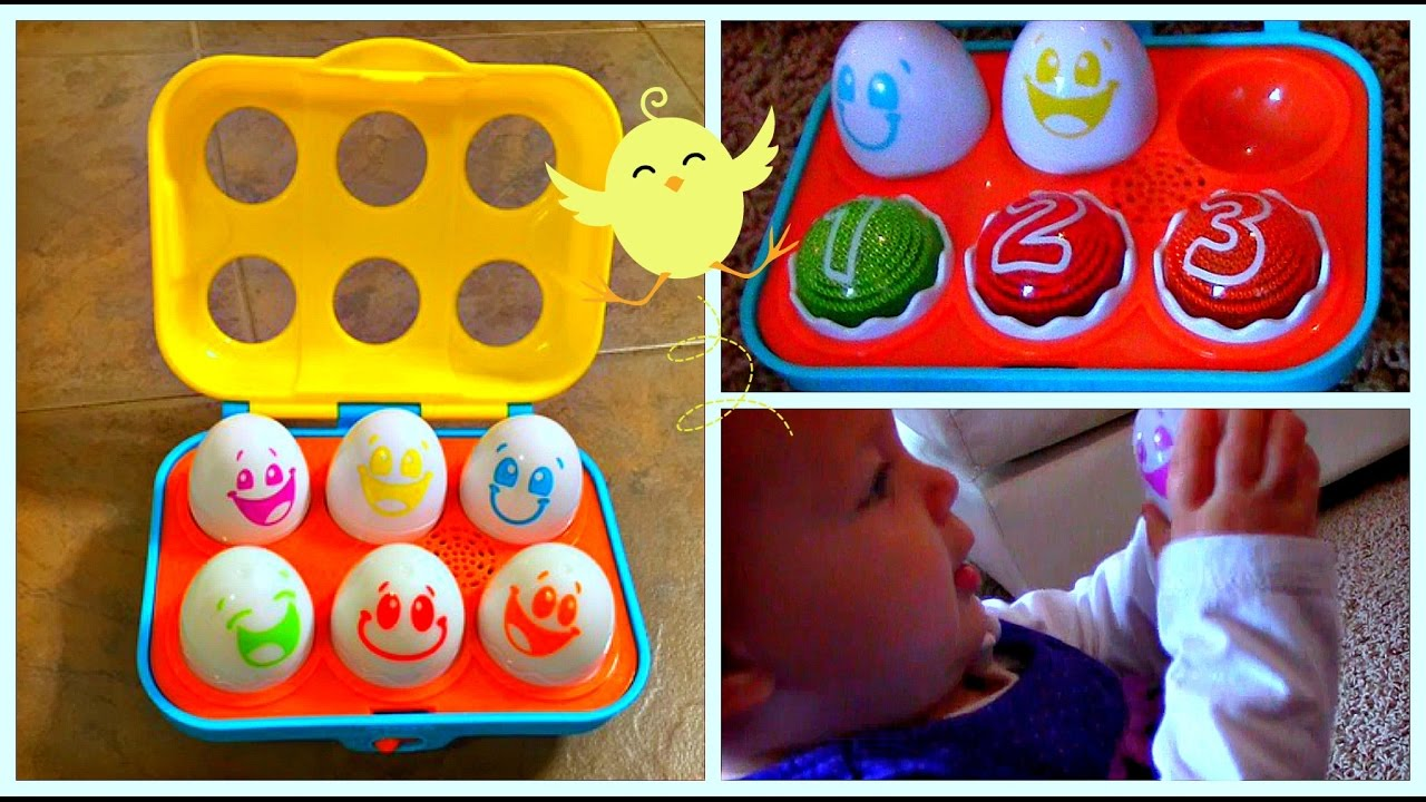 Best Educational Toys for Kids! Bright Starts Put n Shake Eggs Unboxing & Playtime!