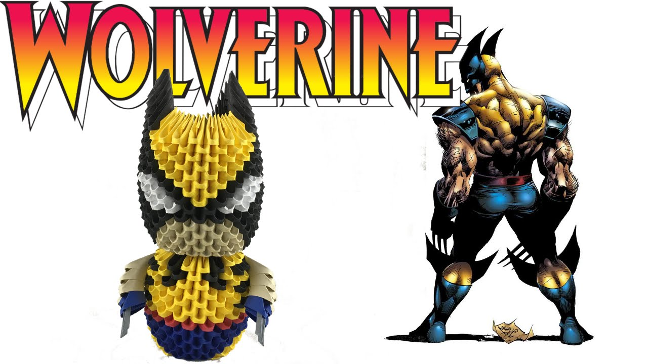 3d origami wolverine tutorial youtube jeuxipadfo Image collections