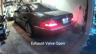 stock exhaust vs straight pipe sound comparison mercedes cl55 amg