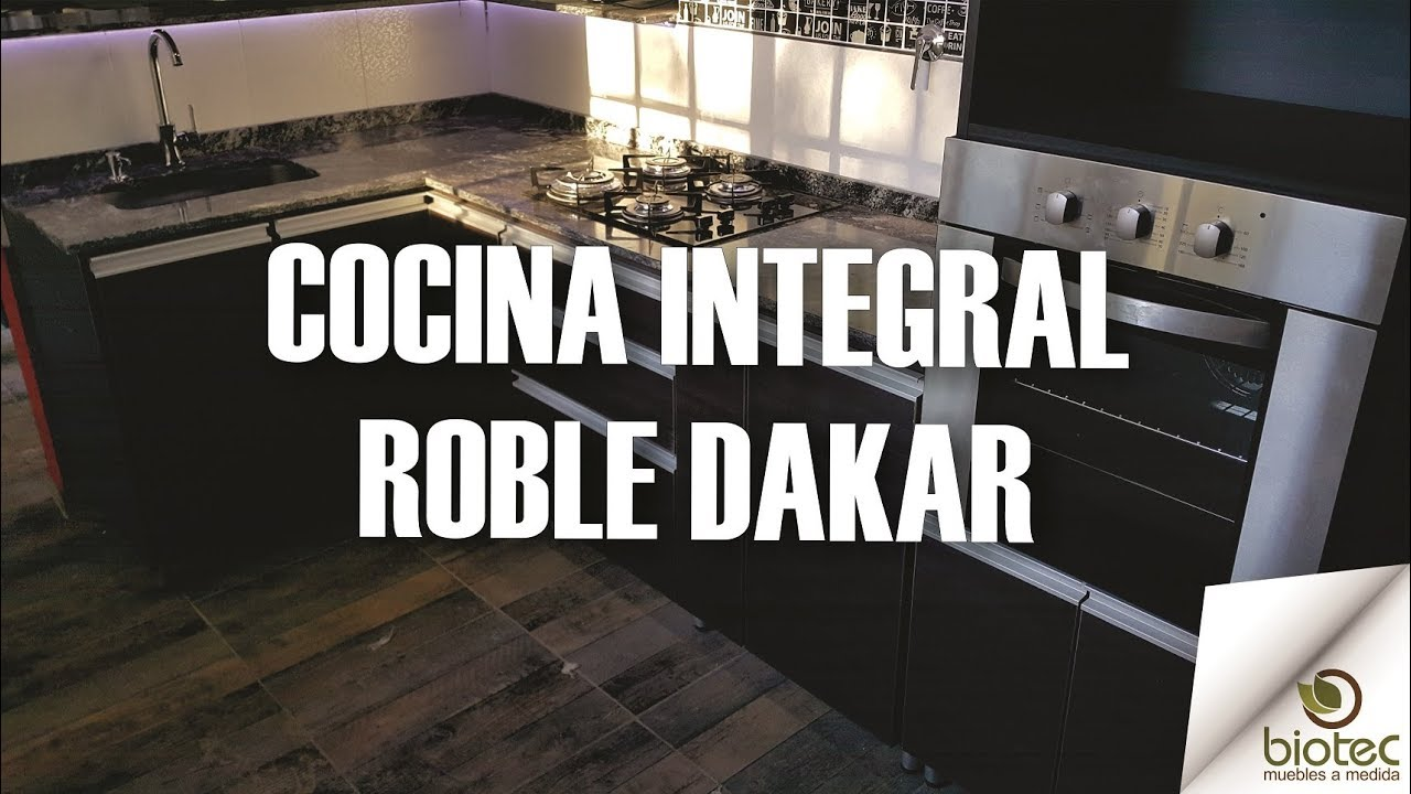 Cocina integral roble dakar y blanco biotec muebles for Muebles de cocina roble