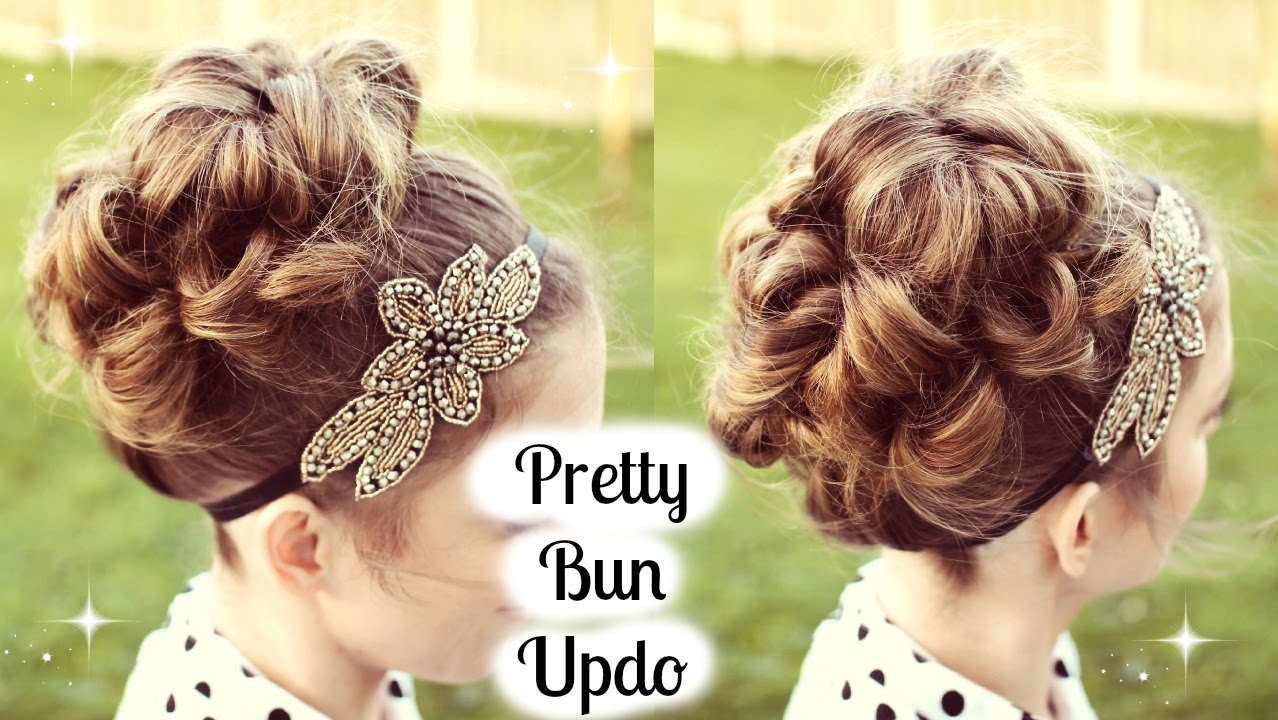 Hair Style Up For Wedding: Bun Updo Tutorial For Prom / Wedding